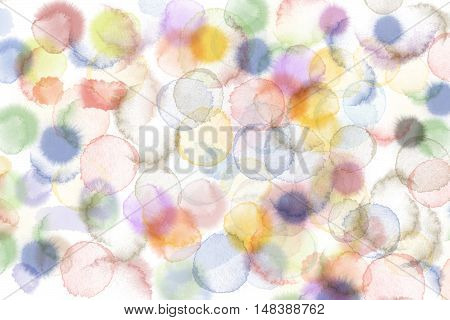 Abstract wate rcolor dropped on white background