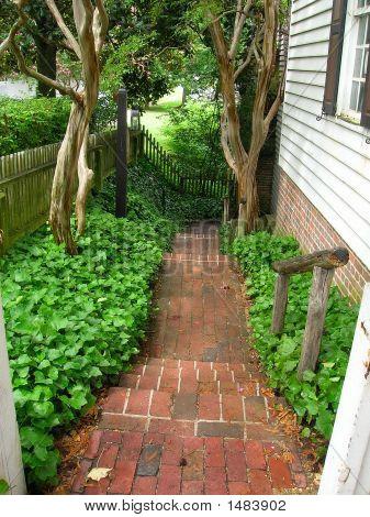 Pretty Brick Stairway