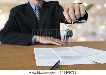 Business Concept, Car Insurance, Sell And Buy Car, Car Financing.