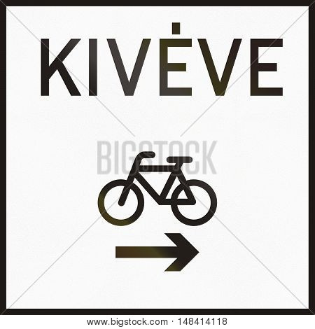 Hungarian Supplementary Road Sign - Kiveve Means Except