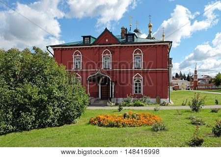 KOLOMNA RUSSIA - AUGUST 26 2016: Refectory of the Assumption Church in the territory of the Kremlin in Kolomna