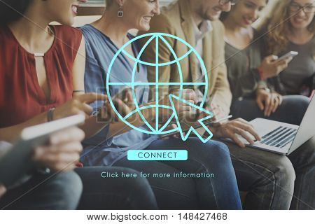 Global Network Connection Technology Concept