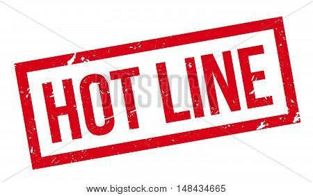 Hot Line Rubber Stamp