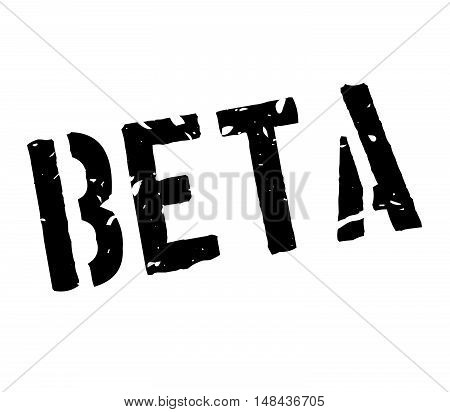 Beta Rubber Stamp