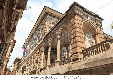 Palace Palazzo Doria Tursi At Via Garibaldi, Genoa