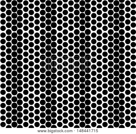Vector geometric seamless pattern. Monochromatic simple graphic backround with gradual effect. Repeating texture with circles.