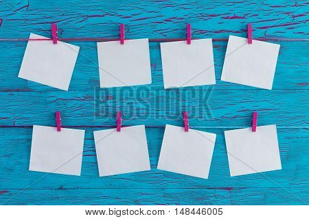 Eight Blank White Memo Pads