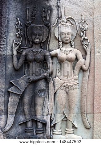 Bas-relief At Angkor Wat, Cambodia