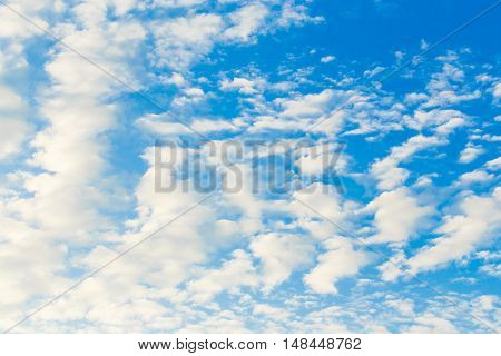 sky blue background white cloud color air