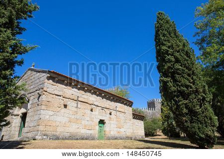Sao Miguel Chapel and the Guimaraes Castle, where medieval knights are buried. Guimaraes, Portugal. UNESCO World Heritage Site