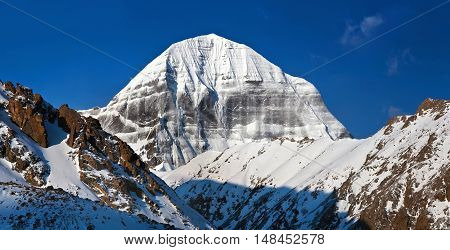 Sacred Mount Kailash (elevation 6638 M), Which Are Part Of The Transhimalaya In Tibet