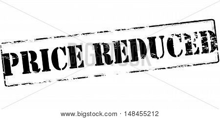 Rubber stamp with text price reduce inside vector illustration