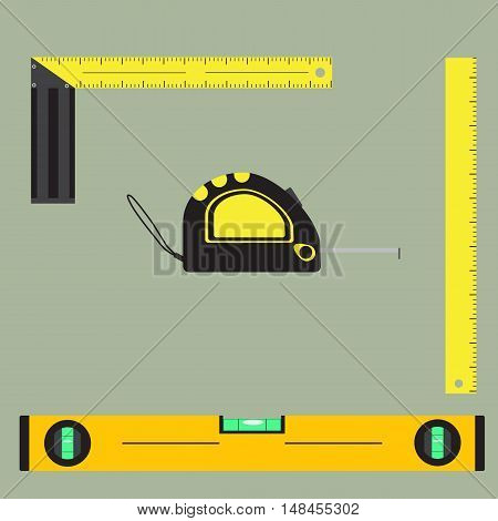 Flat Vector Images Of Measuring Tools