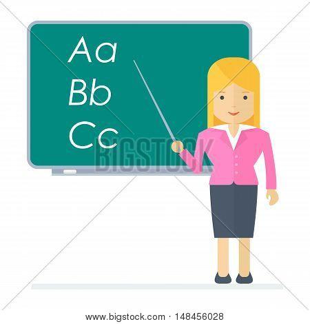 Vector School Teacher Woman