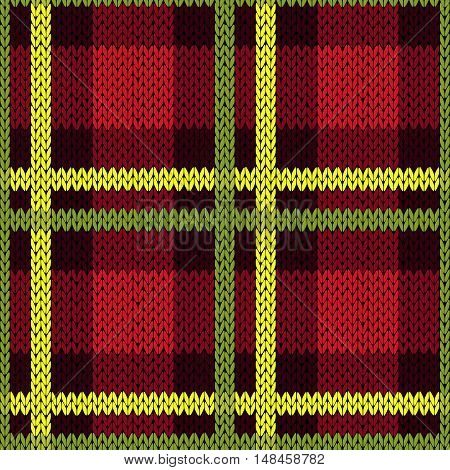 Seamless Pattern In Green, Yellow And Red Colors