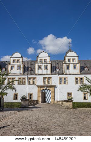 Front Of The Baroque Castle Neuhaus In Paderborn