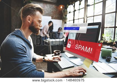 Fraud Hacking Spam Scam Phishing Concept