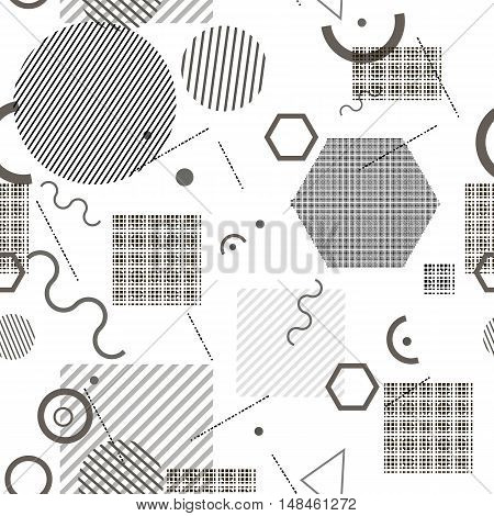 Abstract Composition. Minimalistic Fashion Backdrop Design. White, Black Geometric Shapes Icon. Mode