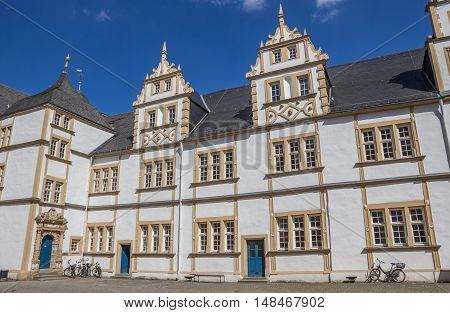 Courtyard Of The Neuhaus Castle In Paderborn