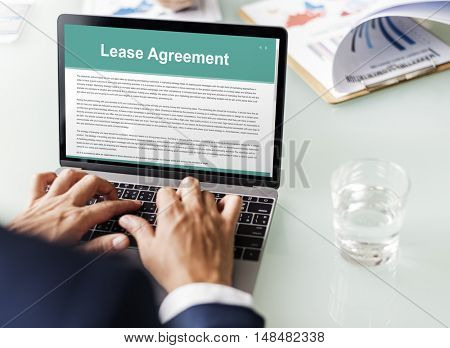 Lease Renting Contract Residential Tenant Concept