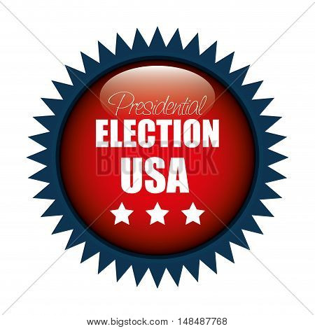 icon button presidential election usa graphic vector illustration eps 10