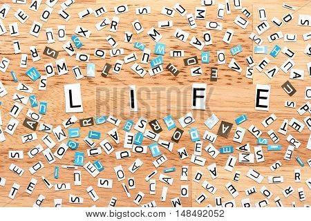 Life Word From Cut Out Letters