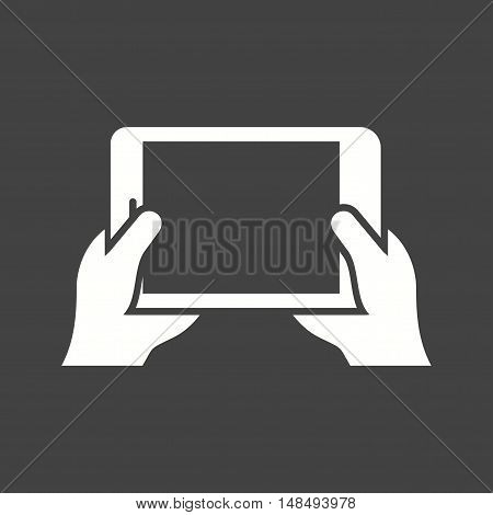 Game, mobile, playing icon vector image. Can also be used for hand actions. Suitable for mobile apps, web apps and print media.