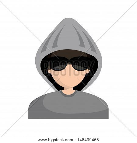 character hacker informatic design vector illustration eps 10