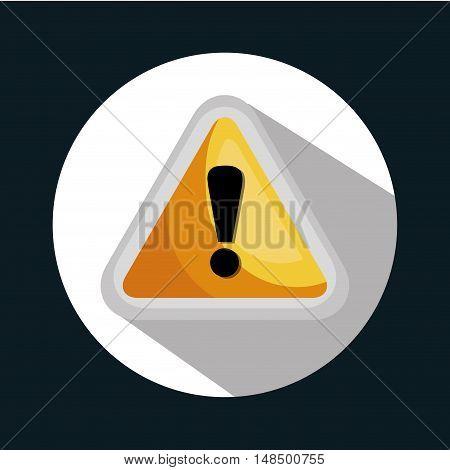 symbol warning system error design vector illustration eps 10