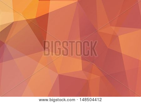 Brown-orange abstract polygonal geometry  background. Vector illustration