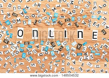 Online Word From Cut Out Letters