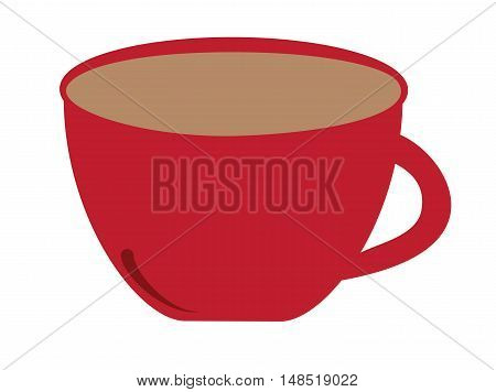Isolated Red Coffee Espresso Mug Drink Beverage