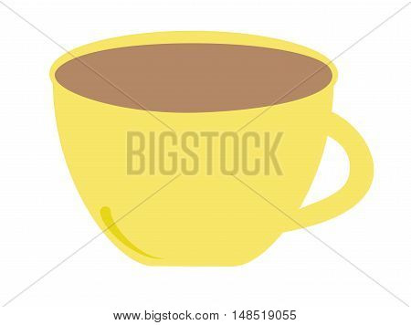 Isolated Yellow Coffee Espresso Mug Drink Beverage