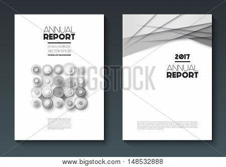 Vector annual report templates, abstract geometric background, abstract flat circles and lines on vertical format