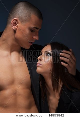 Portrait Of Couple Looking On Each Other