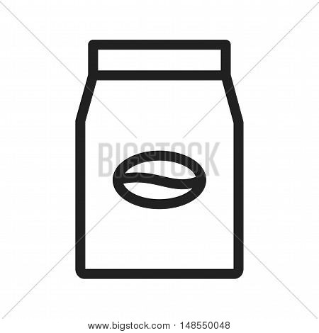 Coffee, packet, package icon vector image. Can also be used for coffee shop. Suitable for use on web apps, mobile apps and print media