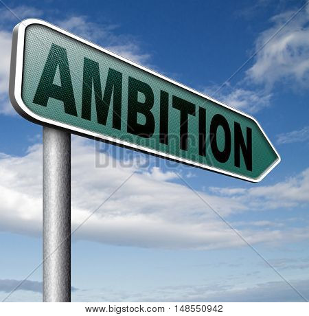 ambition think big dreams in personal and career reach your goals 3D, illustration