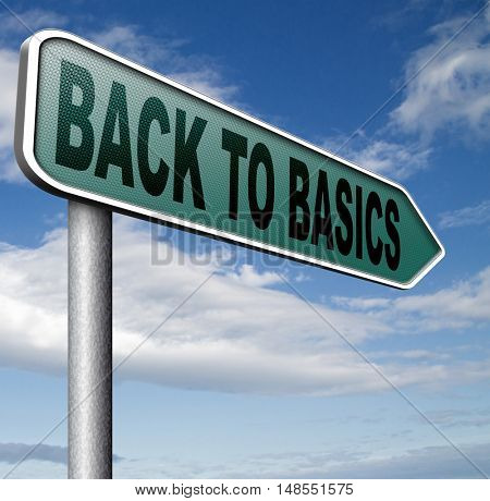 Back to basics to the beginning keep it simple and basic primitive simplicity 3D, illustration
