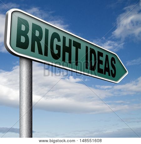 bright new idea brainstorm for a eureka moment find brilliant inspiration and ideas 3D, illustration
