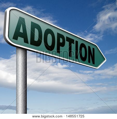 child adoption becoming a legal guardian and getting guardianship and adopt young baby 3D, illustration
