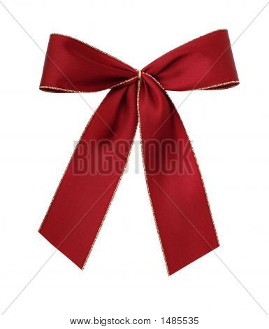 Beautiful Red Giftbow Isolated With Path