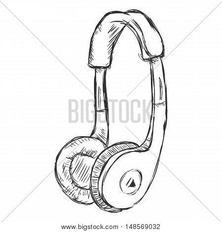 Vector Single Sketch Supra-aural Headphones.
