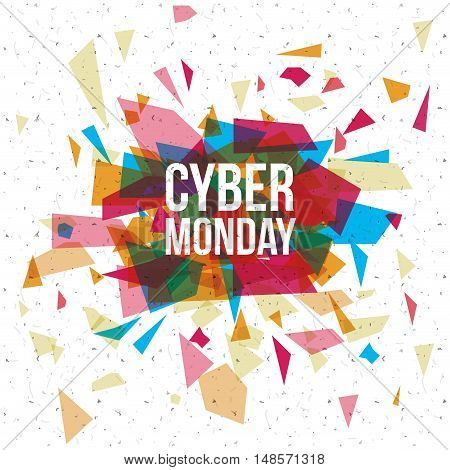Cyber Monday icon. ecommerce sale decoration and advertising theme. Colorful design. Vector illustration