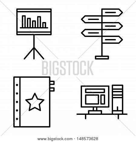 Set Of Project Management Icons On Decision Making, Quality Management And Statistics. Project Manag