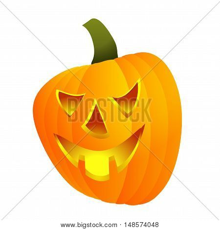 Halloween pumpkin - Jack lamp. The ancient Celts and Irish holiday. Vector illustration