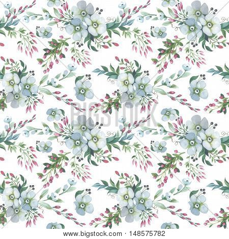 Wildflower lily flower pattern in a watercolor style isolated. Full name of the plant: lily, lilium, lotus. Aquarelle flower could be used for background, texture, pattern, frame or border.