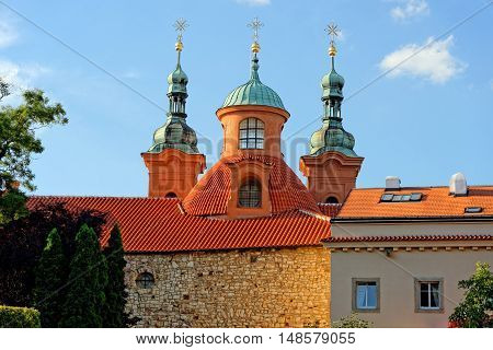 Cathedral church of Saint Lawrence on Patrin Hill in Prague. It is the principal church of the Old Catholic Church of the Czech Republic.