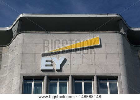 Facade Of The Ey Building In Amsterdam