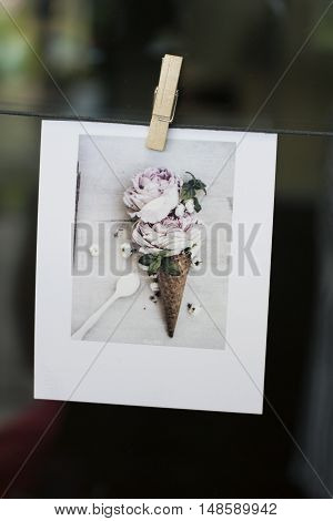 The one wedding clipped card, Ice cream