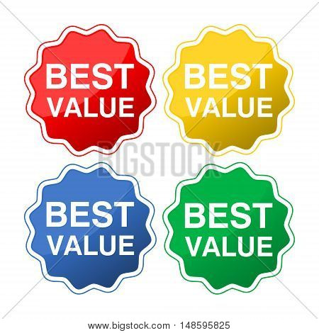 Best value icons set on white background